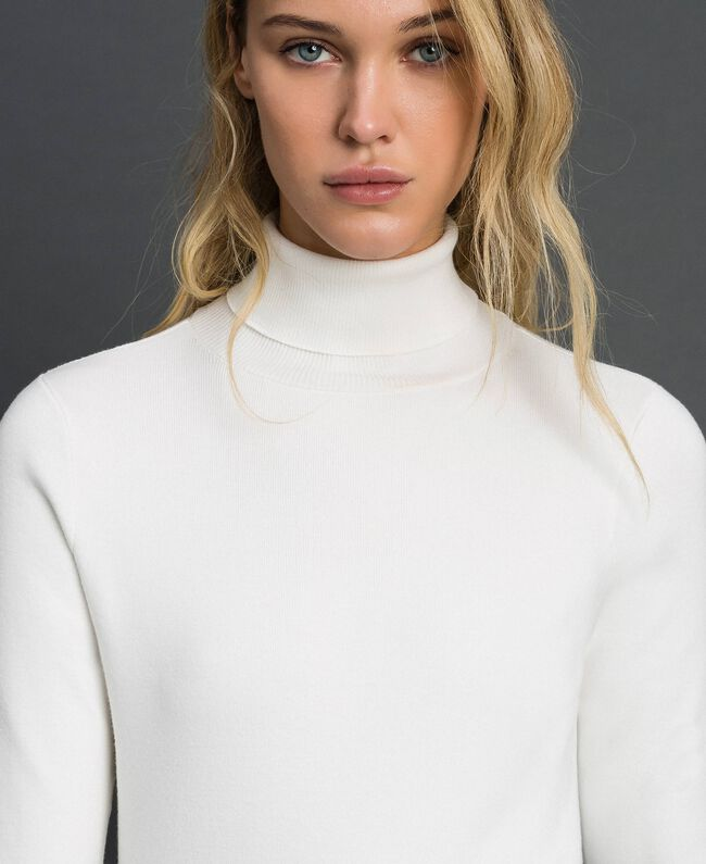 Knit turtleneck Vanilla White Woman 192MT3015-04