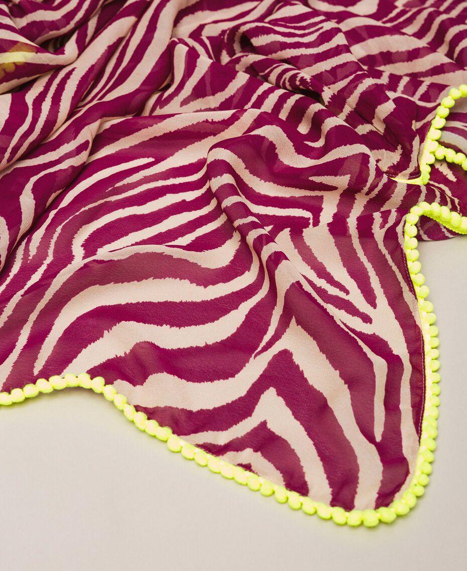 "Animal print sarong ""Atlantic Deep"" Green Zebra Print Woman 201LB4GHH-02"