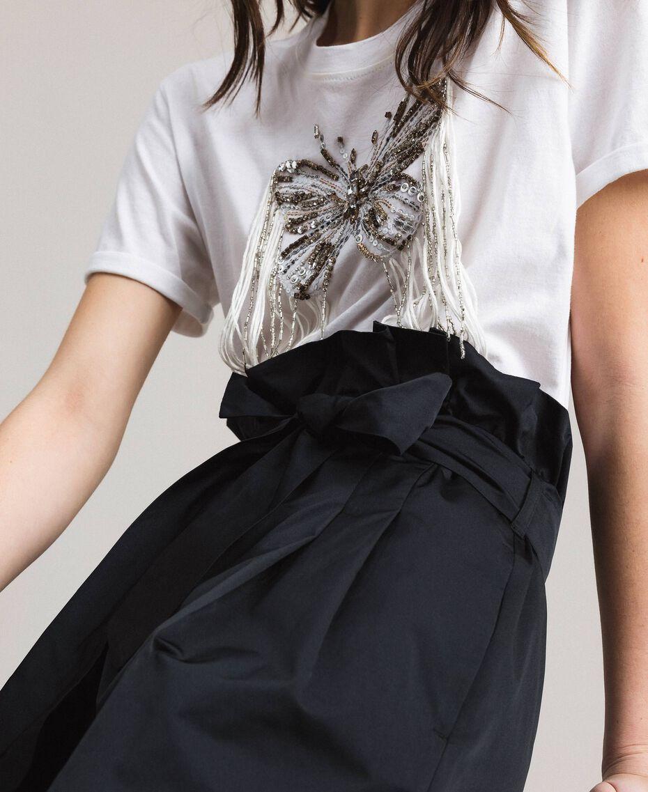 Pantalon en taffetas Noir Femme 191TP2654-05