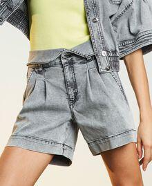 Short taille haute en jean Denim Gris Femme 211MT2567-01