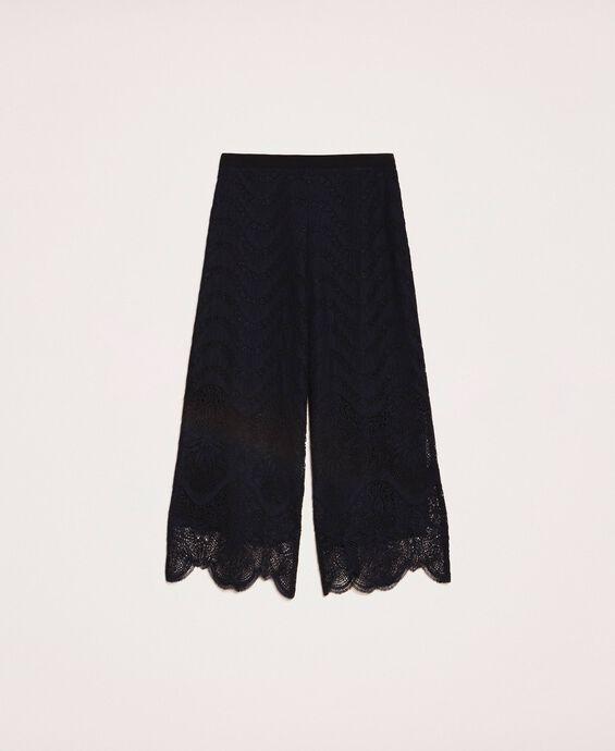 Macramé lace trousers