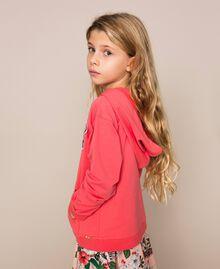 """Felpa con paillettes Rosso """"Calypso Coral"""" Bambina 201GJ2300-02"""