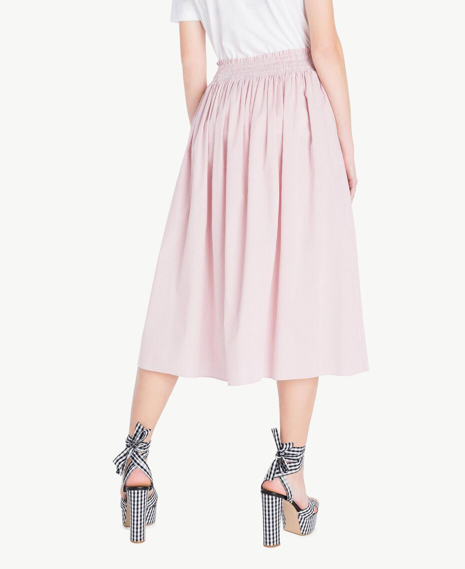 Mid-length skirt Multicolour Misty Pink Pin Stripes Woman JS82DT-03