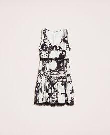 Мини-платье из набивного жоржета Принт Либерти Белый / Черный женщина 201ST213L-0S