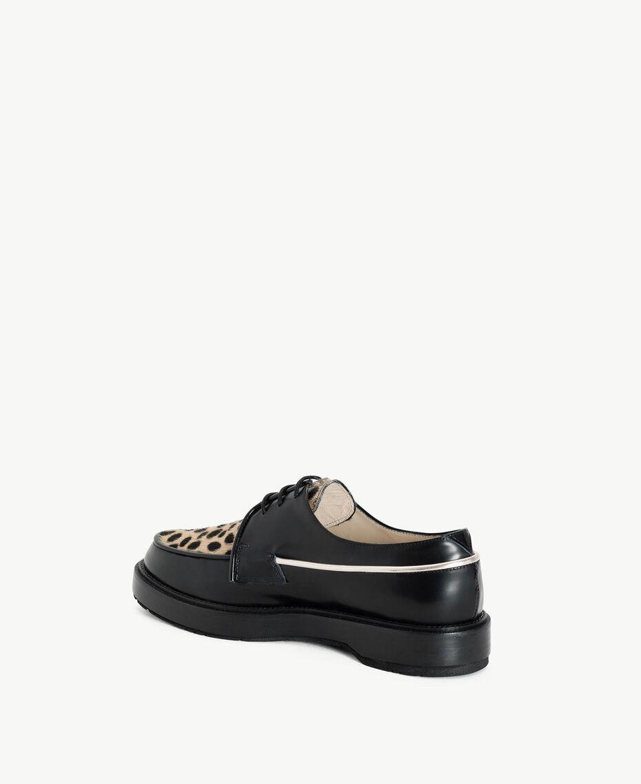 "TWINSET Animal print lace-up shoes ""Ponyskin"" Animal Print Woman CS8PBE-03"