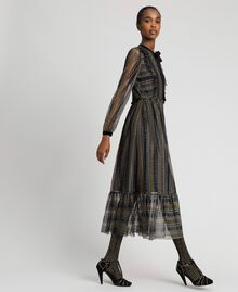 Lurex lace long dress Black Woman 192TT2360-02