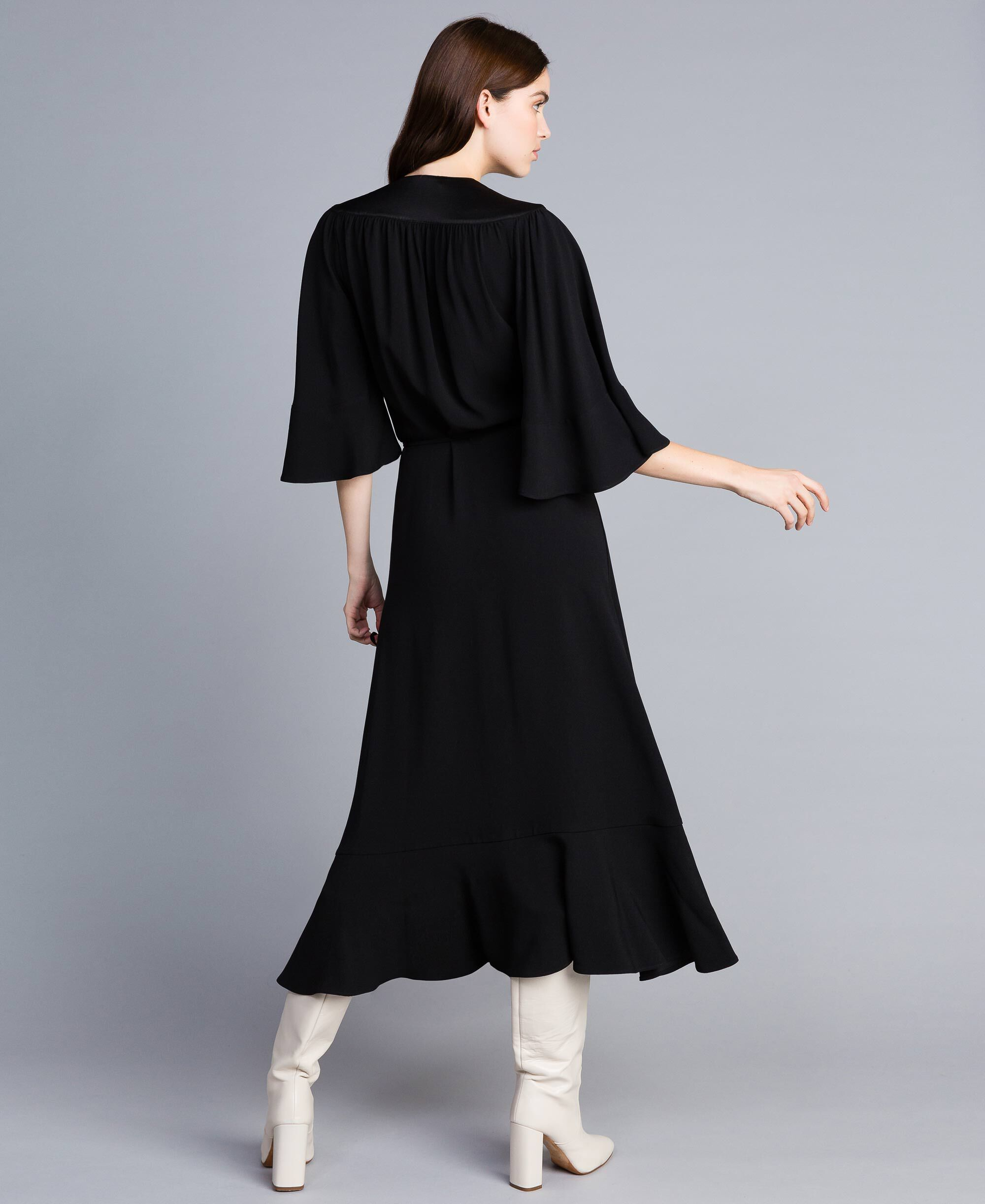 mid length dress with boots