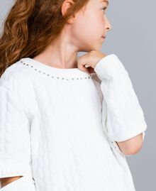 Sweat matelassé avec strass Off White Enfant GA82NN-04