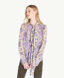 Printed shirt Violet Mix Print Woman PS82X5-01