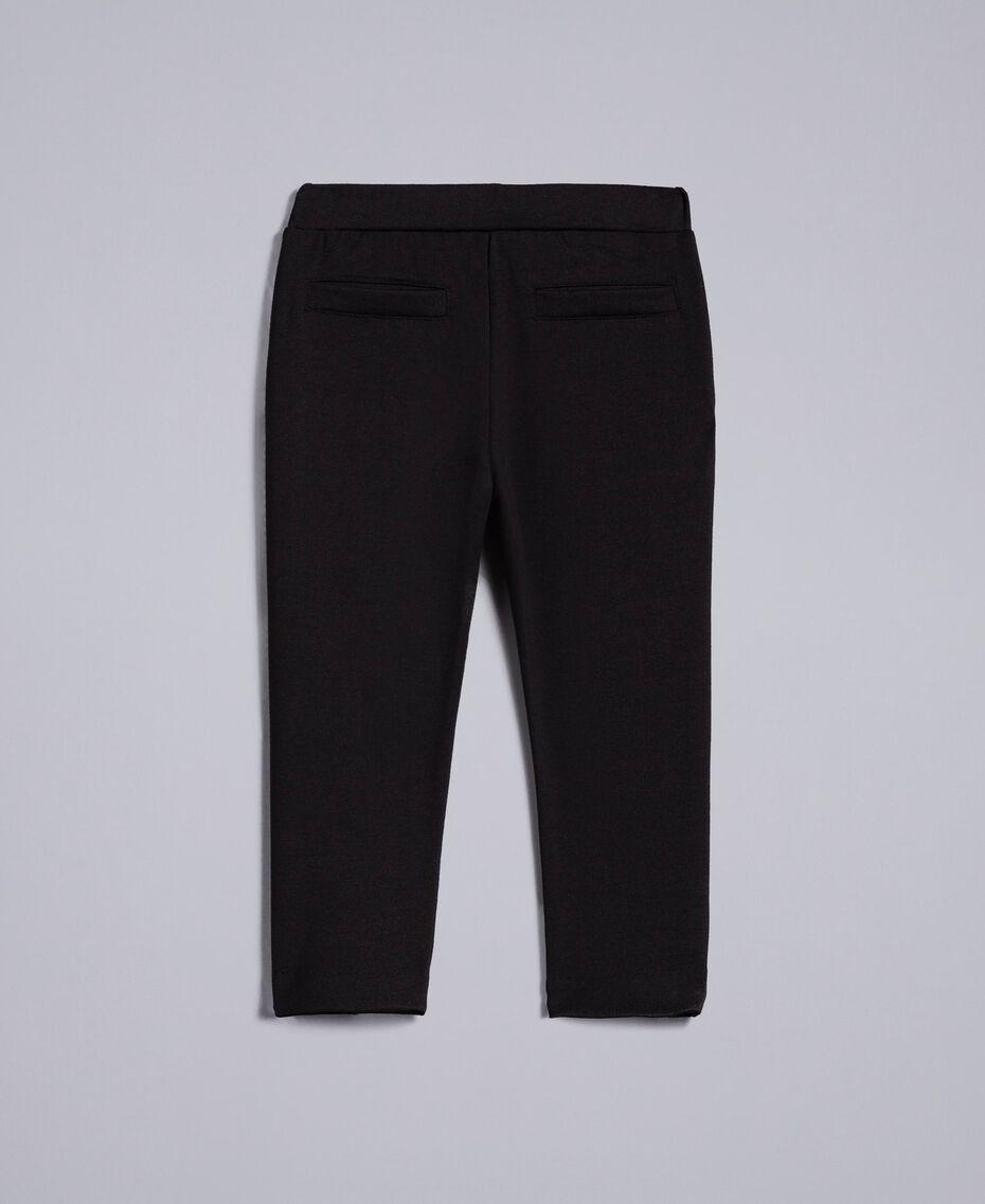 Pantaloni in punto Milano Nero Bambina FA82F1-0S