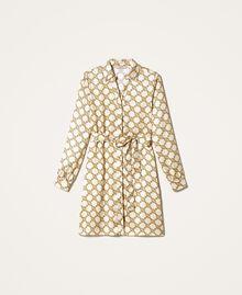 Chain print shirt dress Ivory / Gold Chain Print Woman 202TT2210-0S