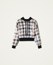 Felpa check in full paillettes Check Full Paillettes Donna 212AP2510-0S