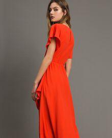 Robe longue en soie mélangée Rouge Grenadine Femme 191TT2079-03