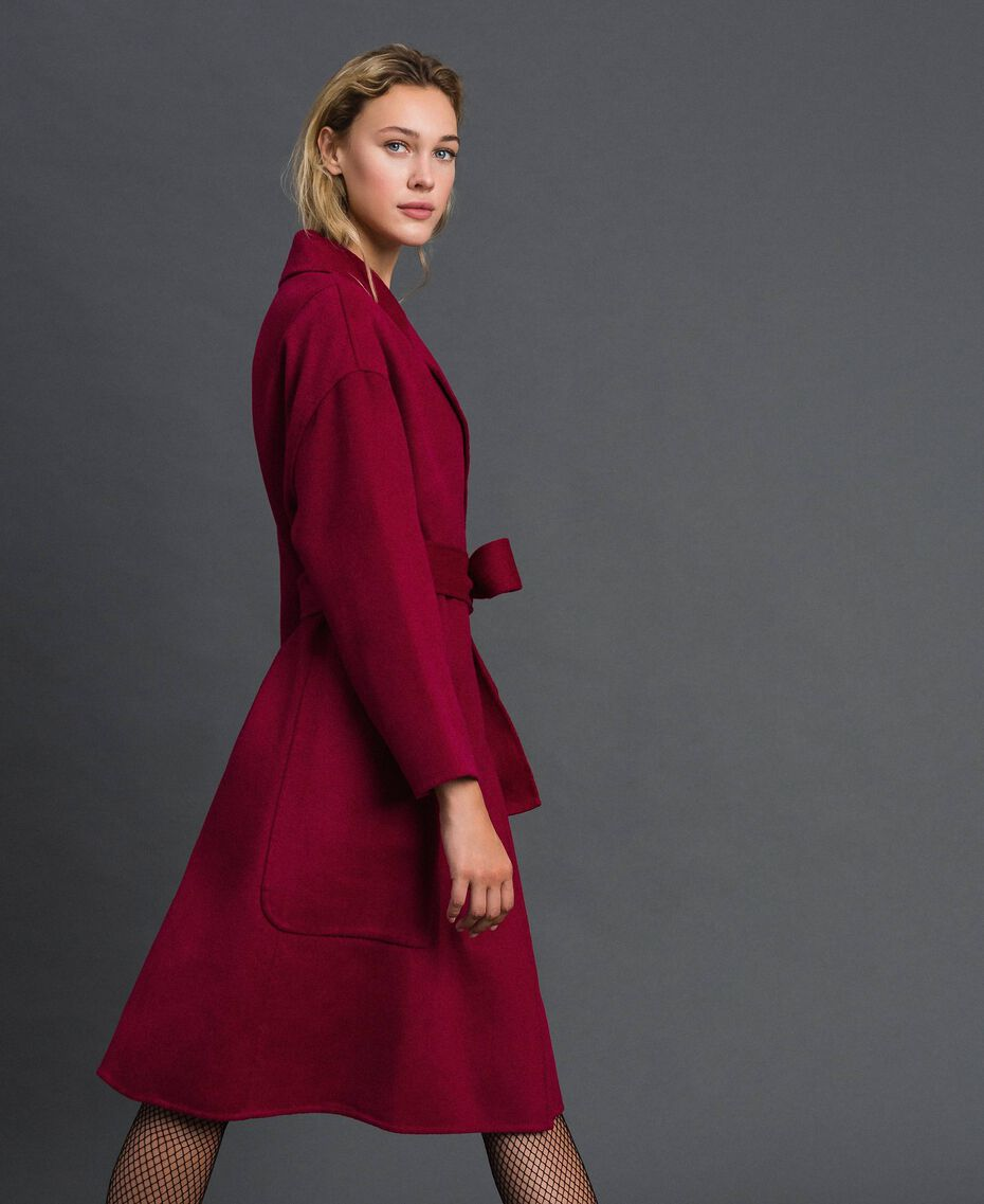 Double wool blend coat Beet Red Woman 192TP2312-01