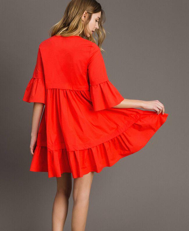 Popeline-Kleid Rote Grenadine Frau 191TT2235-03