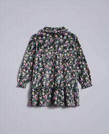 """Kleid mit Blumenprint Print """"Mikroblumen"""" Kind FA82TB-0S"""