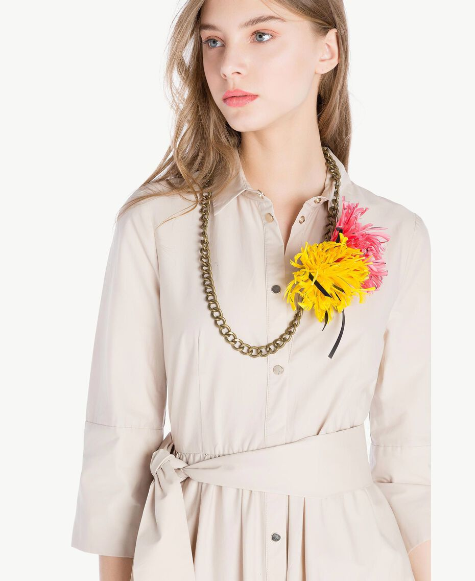 Flower necklace Two-tone Provocateur Pink / Ochre Yellow Woman OS8T46-02