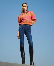 "Eco friendly push-up jeans ""Mid Denim"" Blue Woman 202MP2511-0T"