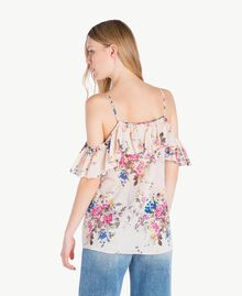 "Printed top ""Rose Bouquet"" Flower Print Woman YS82PK-03"