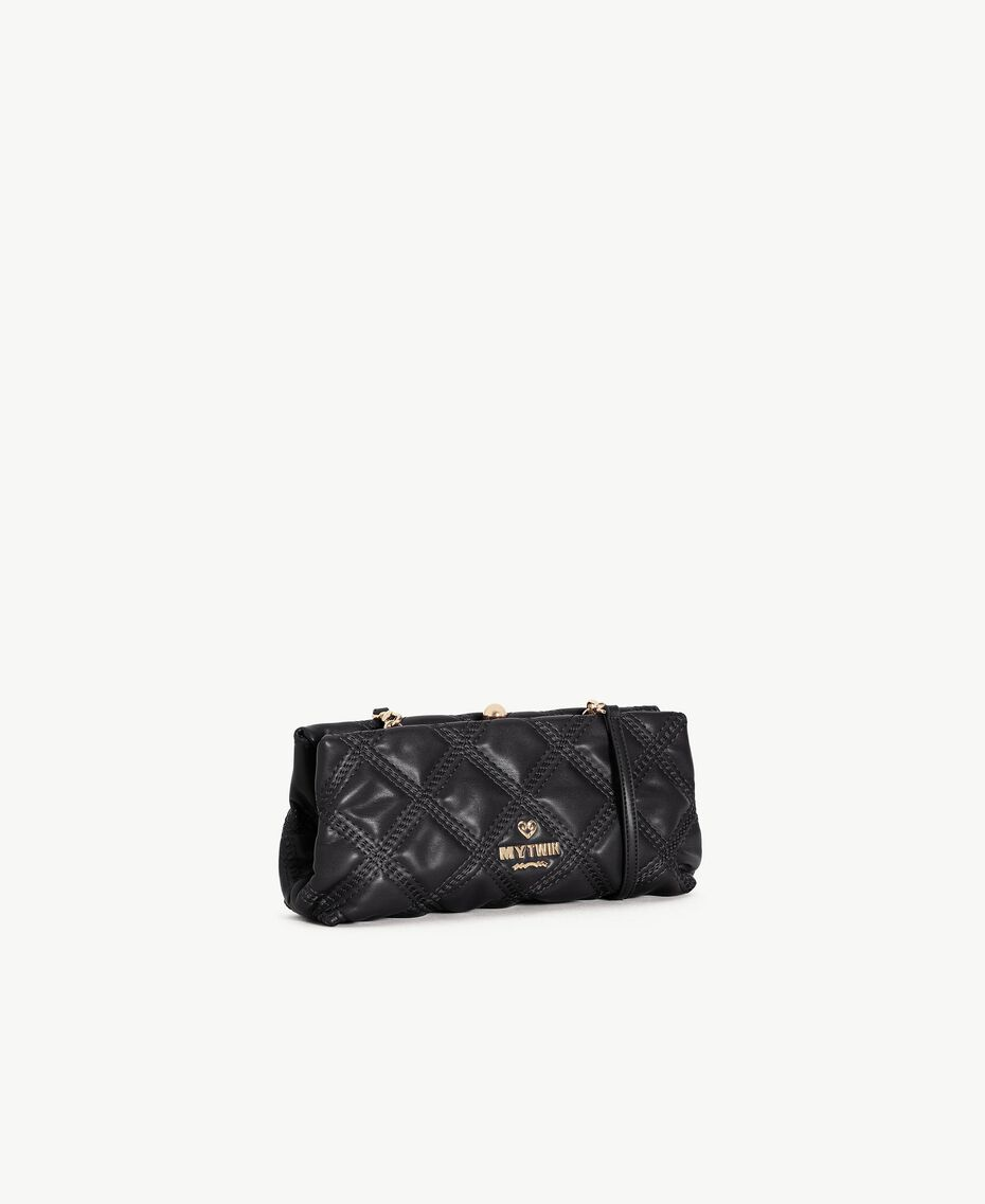 TWINSET Quilted clutch bag Black Female VA7PCT-02