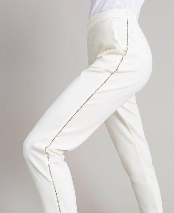 Rhinestone drainpipe trousers