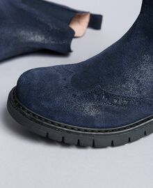 Bottines Beatles en cuir glacé Bleu Blackout Enfant HA88EA-04