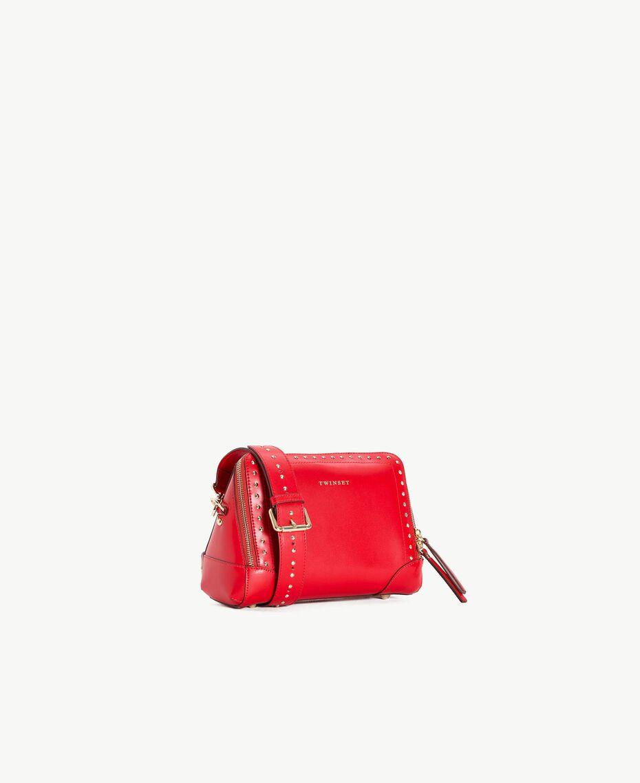 TWINSET Umhängetasche mit Nieten ruby Frau AS8PMA-02