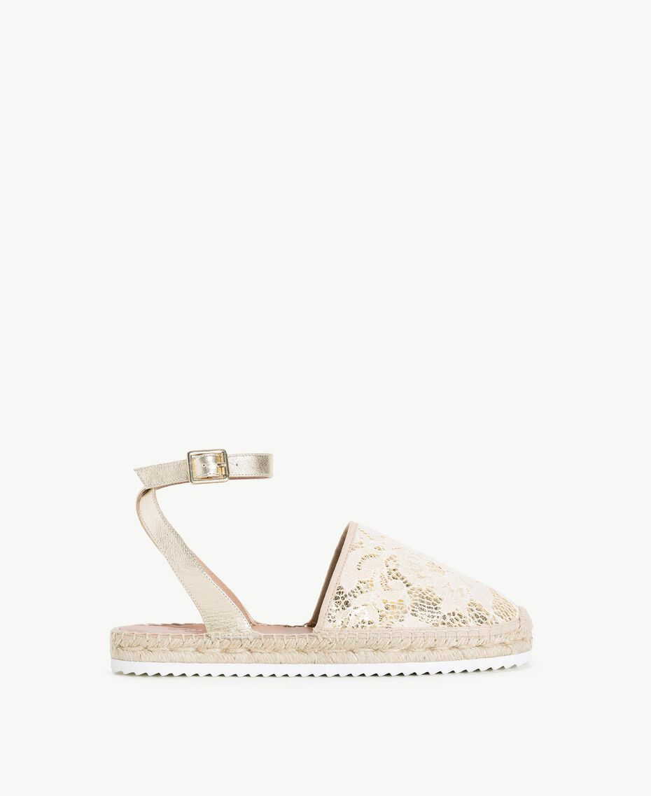 TWINSET Espadrilles dentelle Chantilly Femme CS8TE1-01