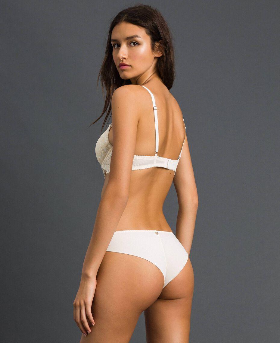 Culotte brésilienne en dentelle Crème Femme 192LI6177-03