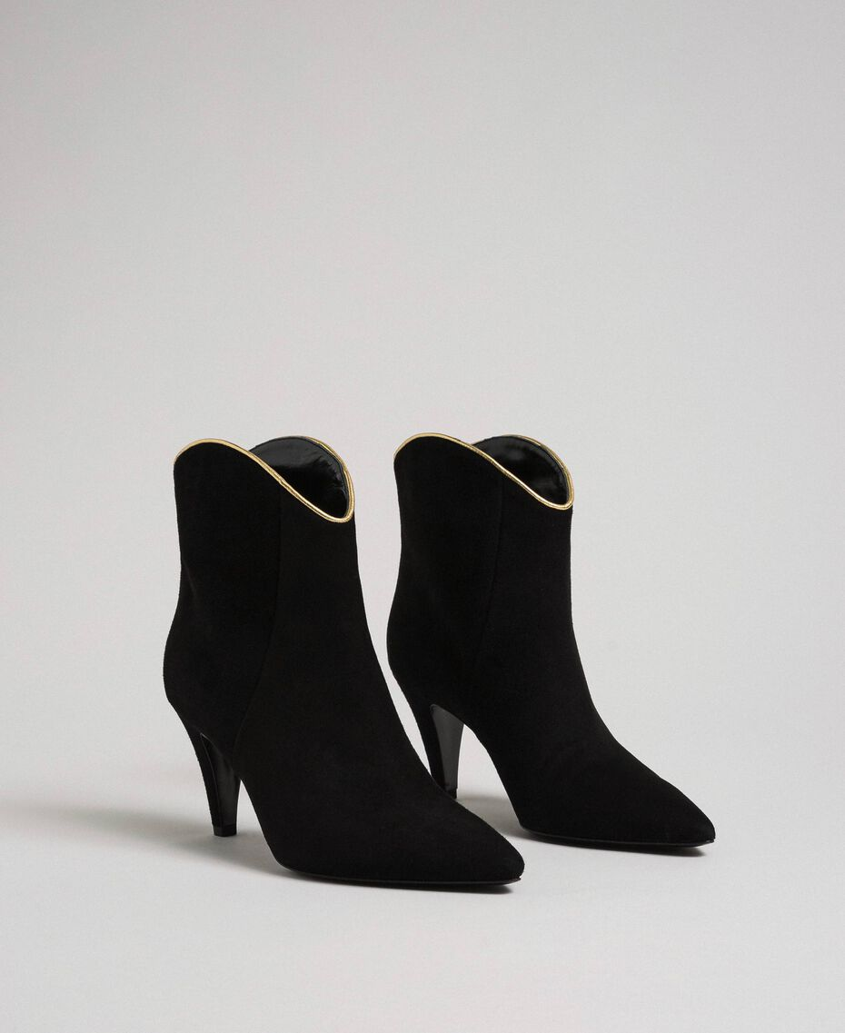 Suede ankle boots Black Woman 192TCT02G-01