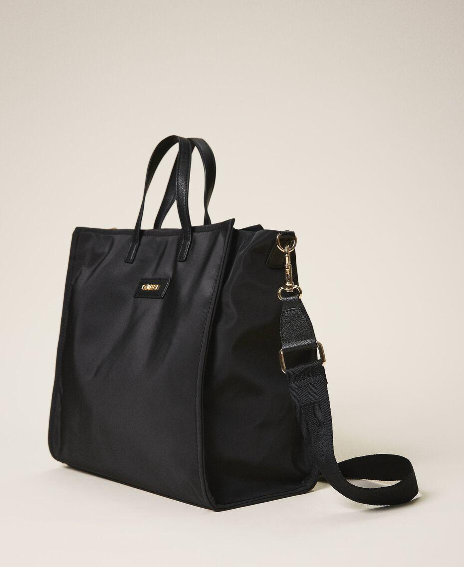 Атласная сумка-шоппер Twinset Bag с плечевым ремнем Черный женщина 202TB7200-02