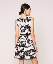 Printed georgette mini dress White Liberty Print / Black Woman 201ST213L-03