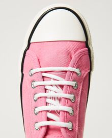 """Canvas trainers with logo """"Rose Bloom"""" Pink Child 211GCJ070-05"""