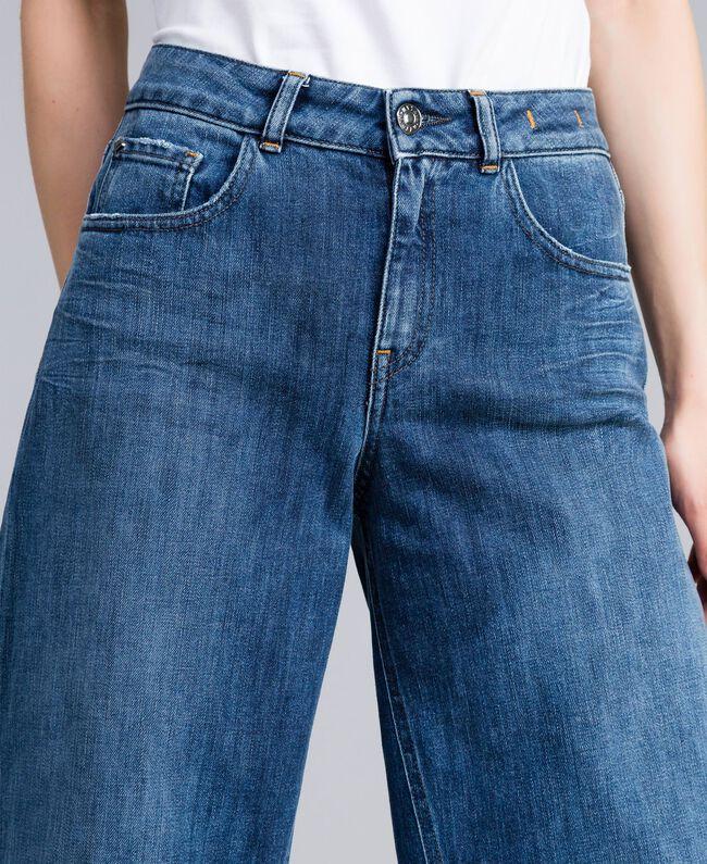 Jean large en denim Bleu Denim Femme JA82Q4-04
