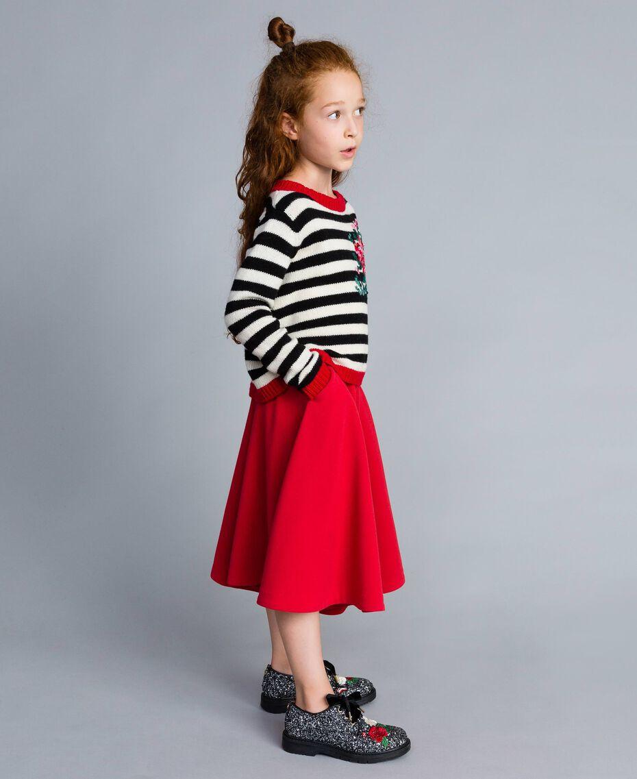 Jupe pantalon en crêpe Rouge Coquelicot Enfant GA82DC-0S