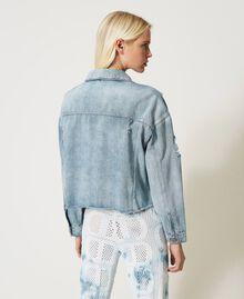 Blouson en jean avec franges en chatons Denim Femme 211TT2380-03