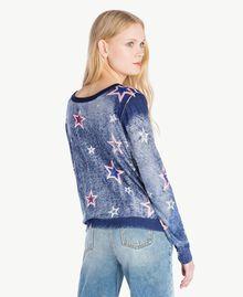 Cardigan mit Sternen Sternenprint Frau JS83NA-04
