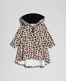 Animal print dress with hearts Leopard Print Child 192GB2330-01