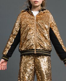 "Velvet bomber jacket with sequins ""Spelt"" Beige Child 192GJ2090-02"