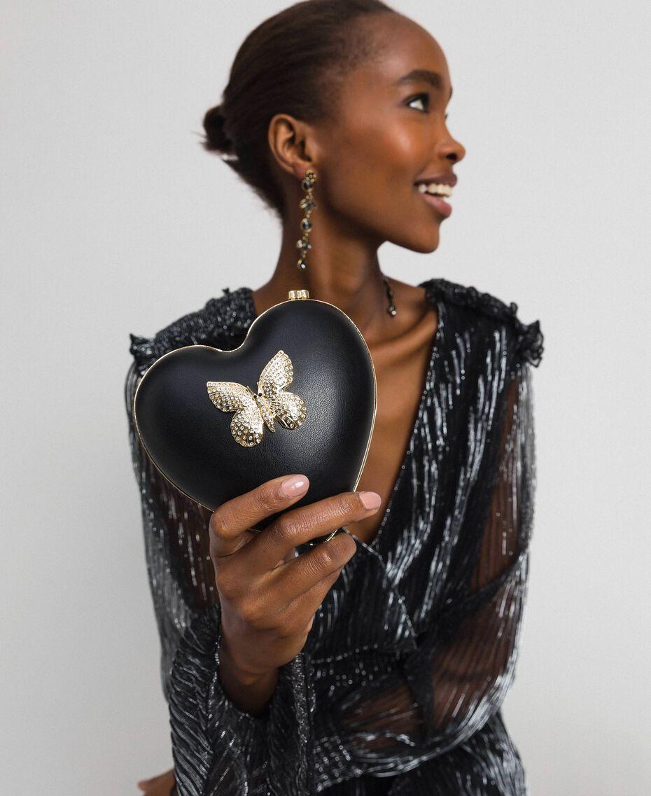 Сумка-пошет из искусственной кожи со стразами Черный женщина 192TO8030-0T