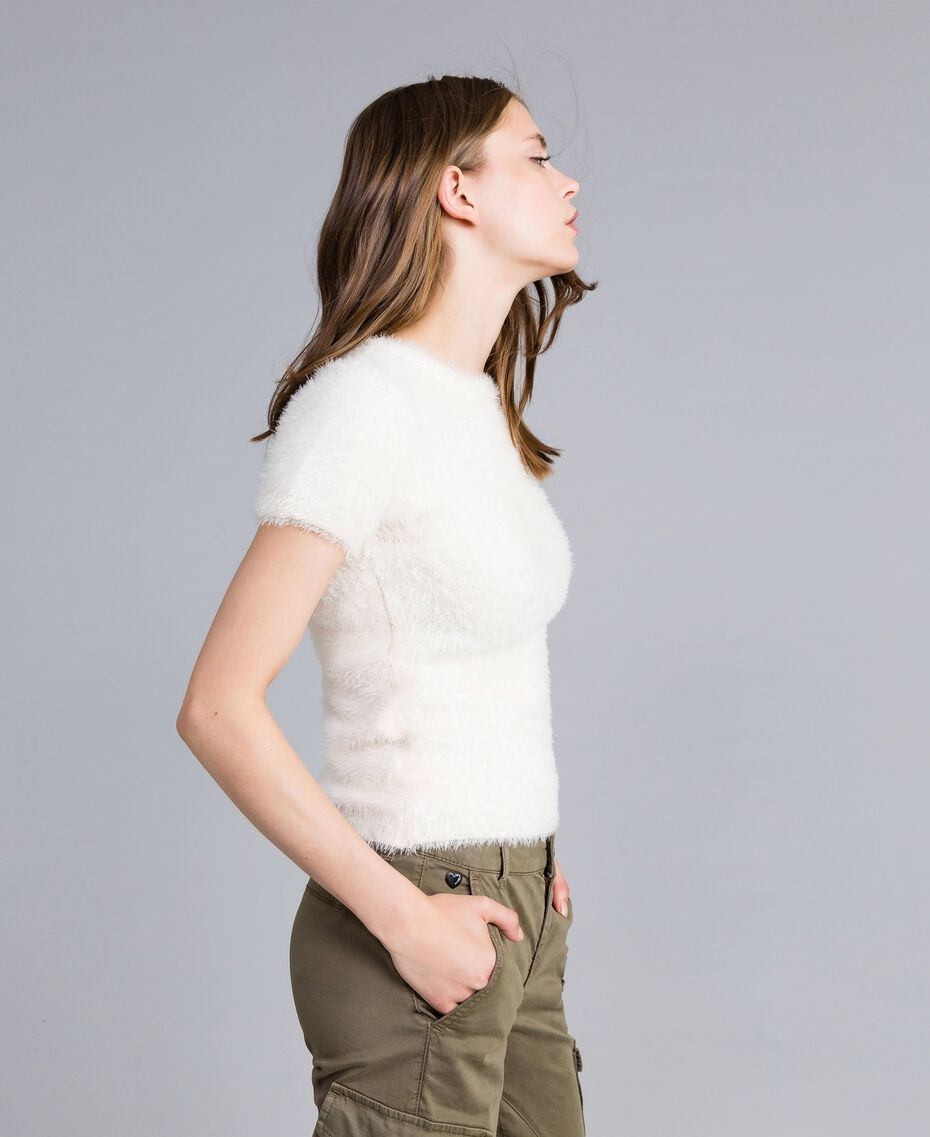 Fur knit jumper with pins Mother Of Pearl Woman JA83GA-02