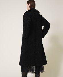 Manteau long en fausse fourrure Noir Femme 202MP2271-03