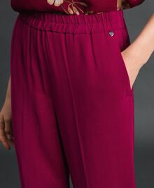 Georgette trousers Beet Red Woman 192TP2387-04