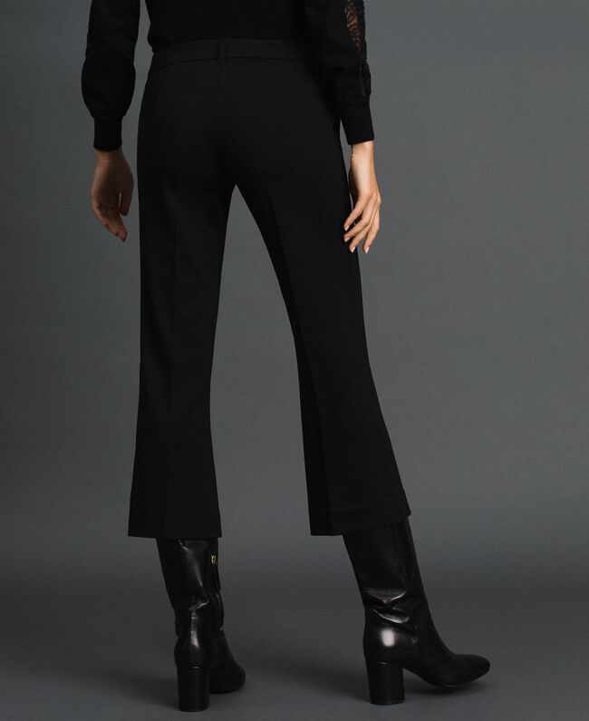 Pantalon évasé Noir Femme 192TP2092-03