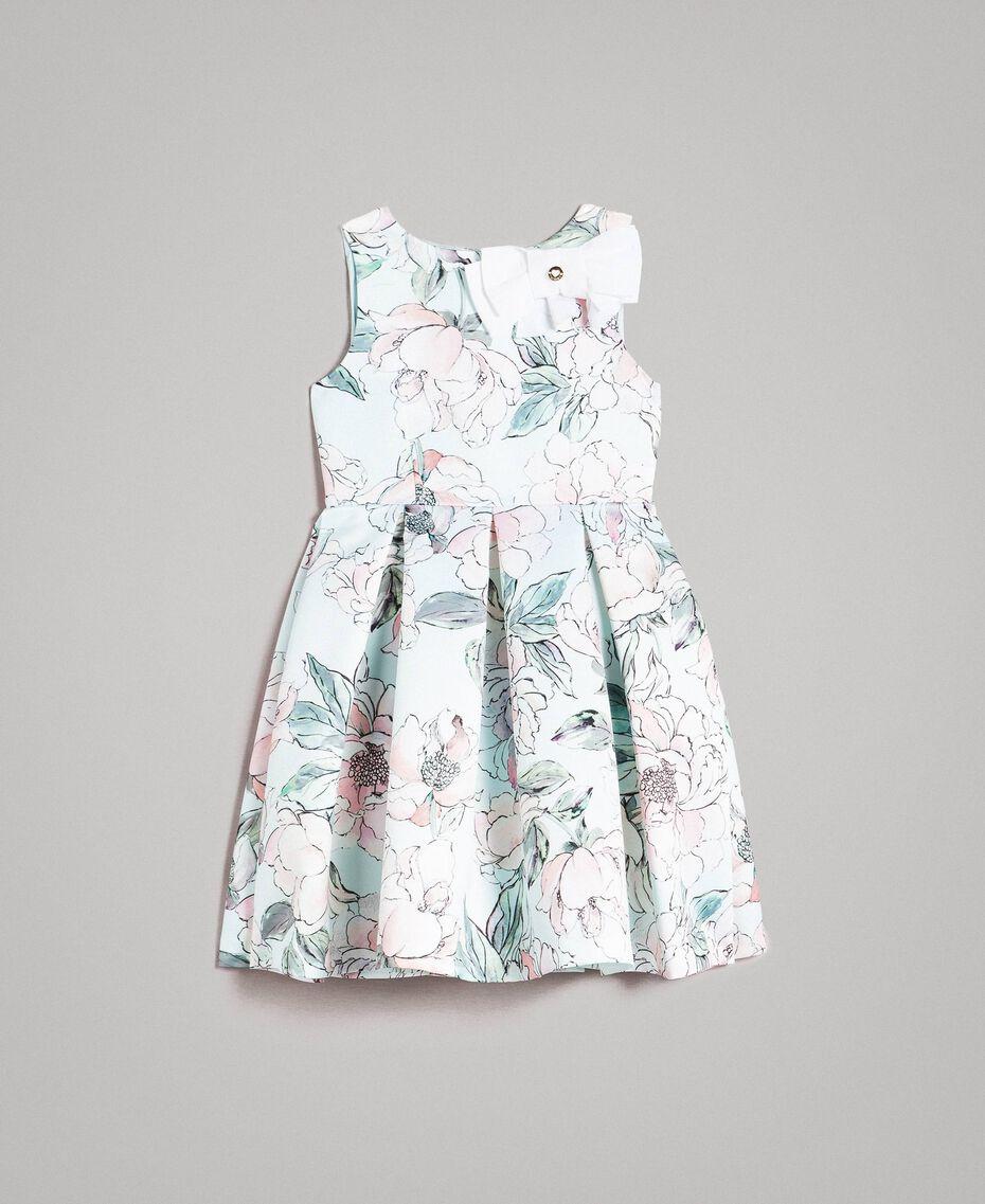 """Robe duchesse à fleurs Imprimé Floral Bleu Clair """"Eau"""" Enfant 191GJ2QN0-01"""