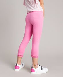 """Jersey leggings with lace """"Crystal Pink"""" Child 191GJ2183-04"""