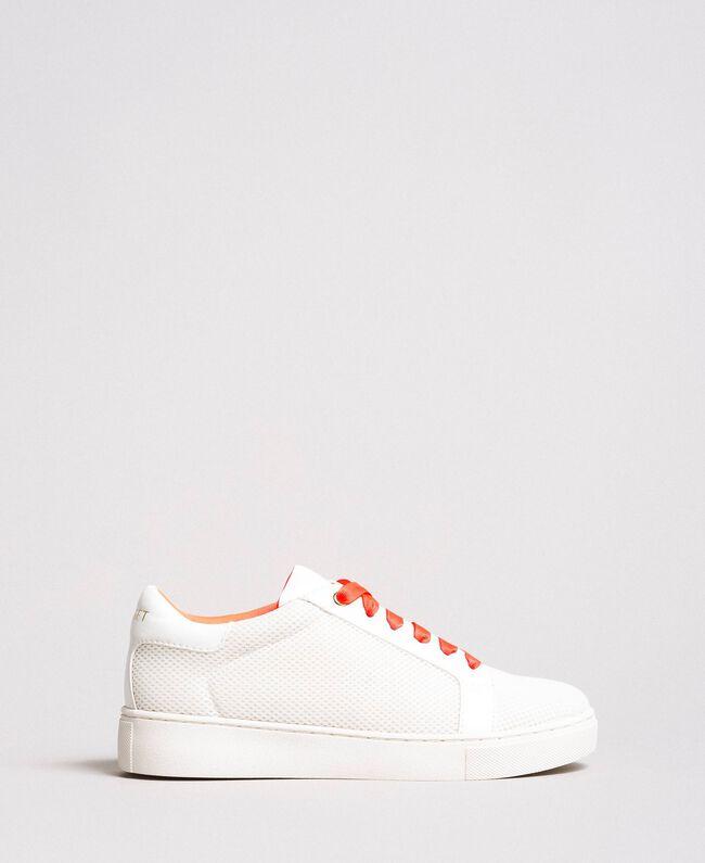 Sneakers aus Stoff mit Netzeffekt Weiß Frau 191LL49EE-03
