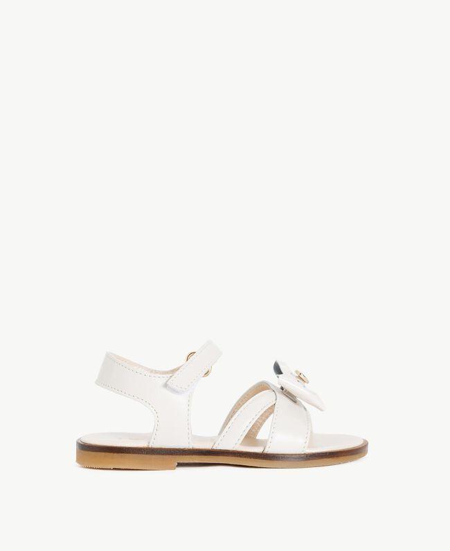 Bow sandals Pale Cream Child HS86CQ-01