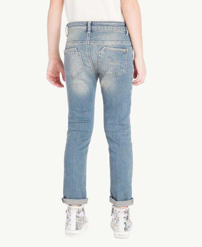 """Jean skinny Bleu """"Denim Moyen"""" Enfant GS82T3-04"""