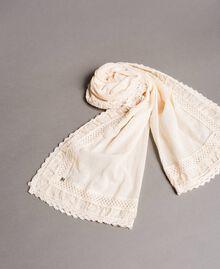 """Cotton muslin scarf """"Milkway"""" Beige Woman 191LB4ZAA-01"""
